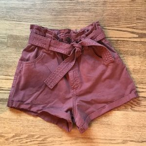 Abercrombie paper bag waist shorts  small